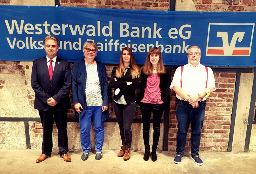 Das Schiedsrichterteam v.l.n.r.: Gregor Johann, Ingrid Lauterbach, Sandra Schmidt, Estelle Morio, Peter Hoffmann